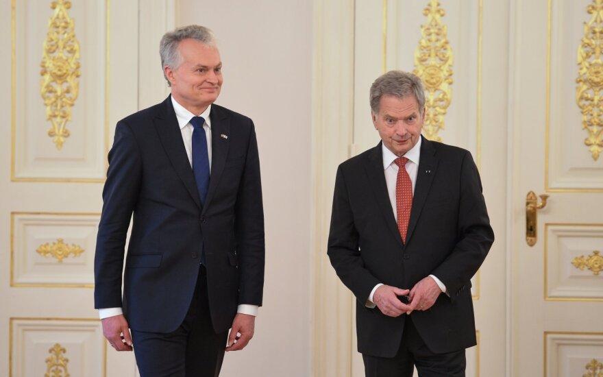 Nausėda susitiko su Suomijos prezidentu