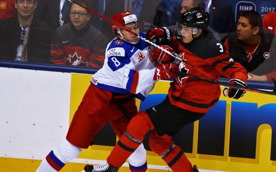 Pasaulio čempionato starte Kanados rinktinė parklupdė Rusiją