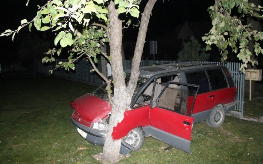 Neblaivus vairuotojas automobiliu išlaužė tvorą ir sode išpurtė obelį