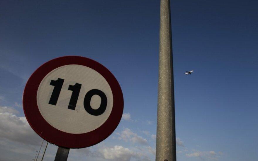 Kelio ženklas, greičio apribojimas