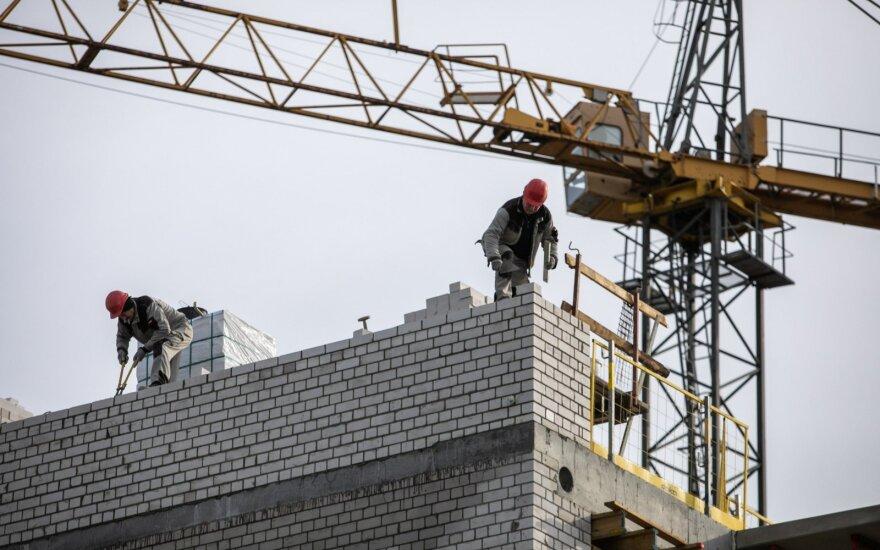 Statybos darbų trečiąjį metų ketvirtį, palyginus su pernai, atlikta 6,6 proc. mažiau