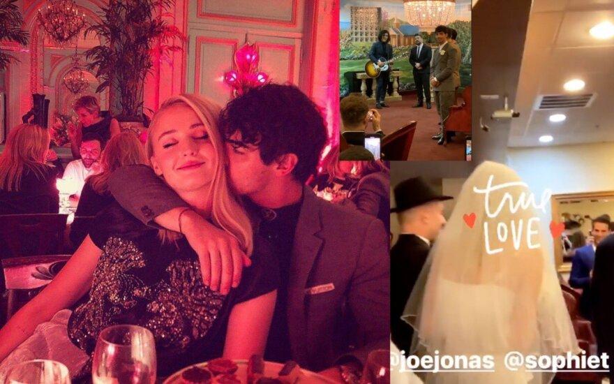 Joe Jonas vestuvių akimirka