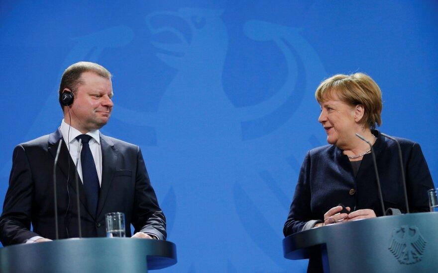 Saulius Skvernelis, Angela Merkel