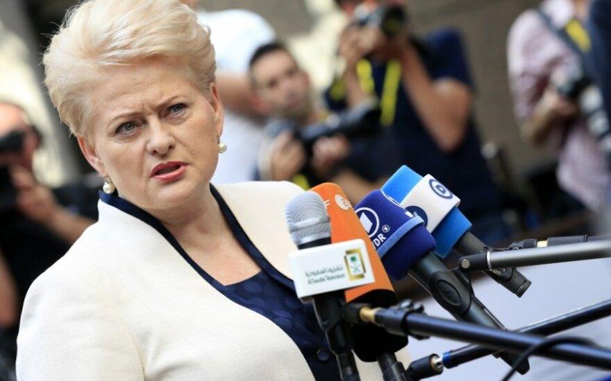 D. Grybauskaitė rėžė, ką galvoja
