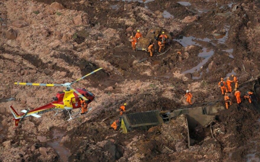 Brazilijoje po užtvankos griūties patvirtinta 34 žmonių žūtis