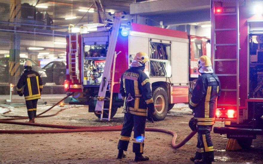 "Naktį prekybos centre ""Ozas"" kilo gaisras"