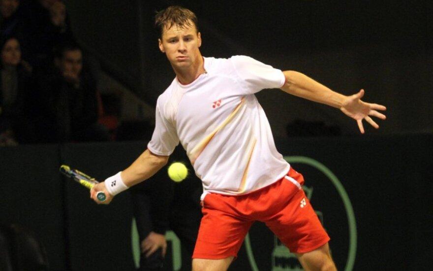R. Berankis teniso turnyre Rumunijoje valandą priešinosi 24-ai pasaulio raketei