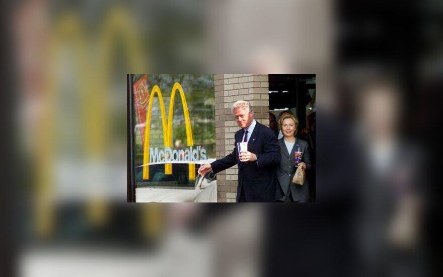 Bill Clinton in McDonalds