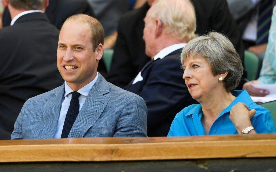 Princas Williamas, Theresa May