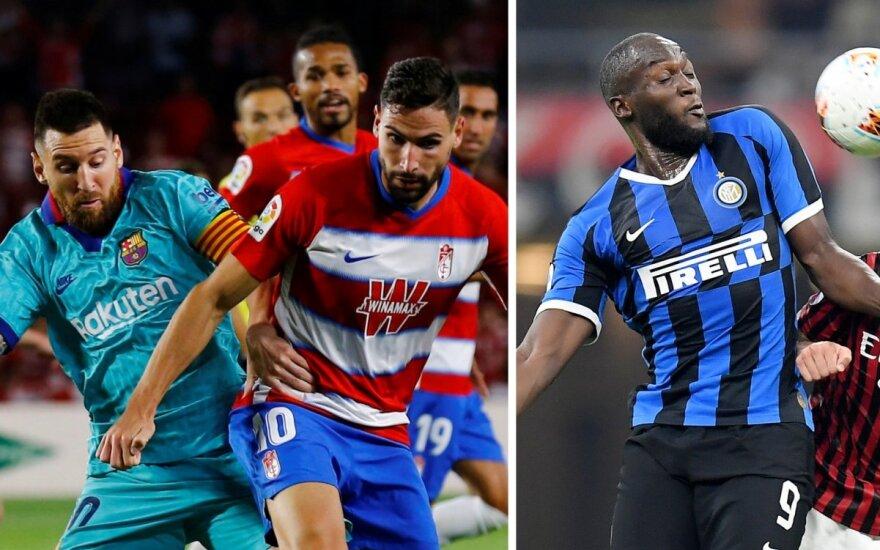 """""""Barcelona"""" patyrė antrąjį pralaimėjimą, Milano derbyje triumfavo """"Inter"""""""