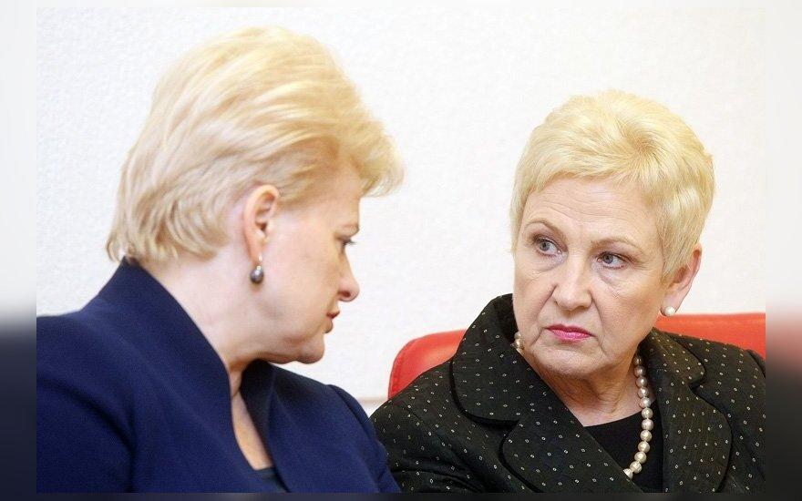 Dalia Grybauskaitė ir Irena Degutienė