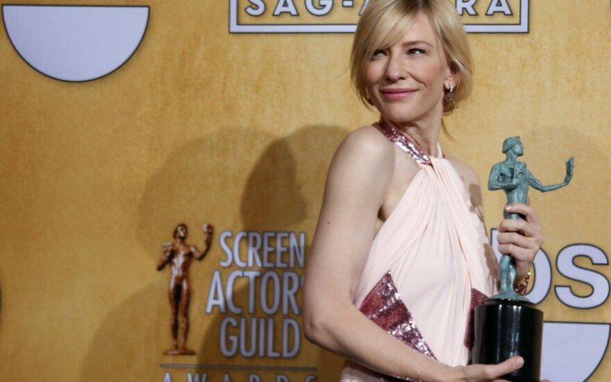 Aktorių gildijos apdovanojimuose triumfavo Cate Blanchett