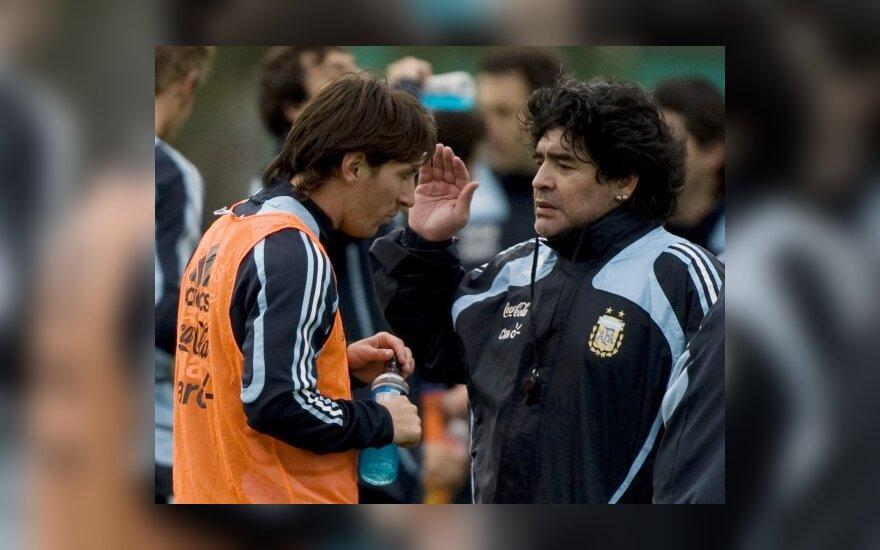 L.Messi ir D.Maradona
