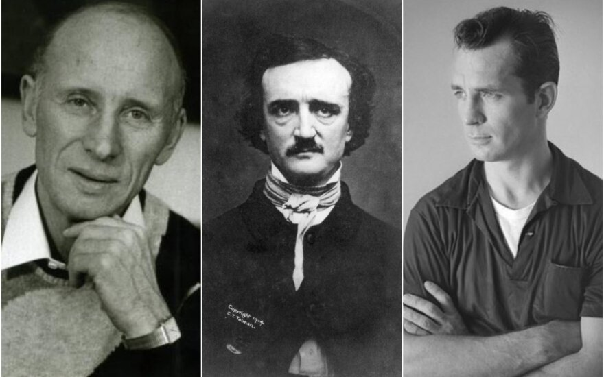 Mykolas Sluckis, Edgaras Alanas Po, Džekas Keruakas