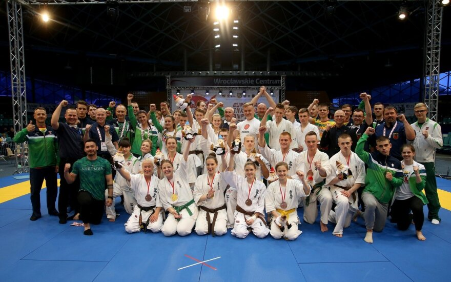 Lithuanian youth kyokushin karate team