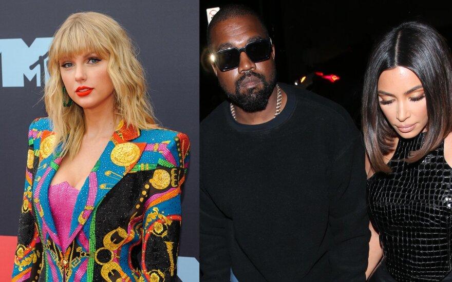 Taylor Swift, Kanye West ir Kim Kardashian West