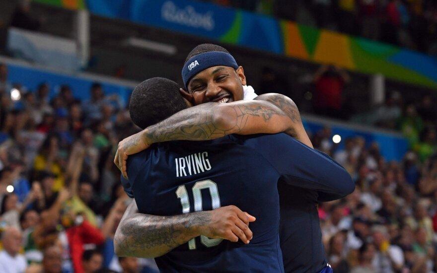 Carmelo Anthony ir Kyrie Irvingas
