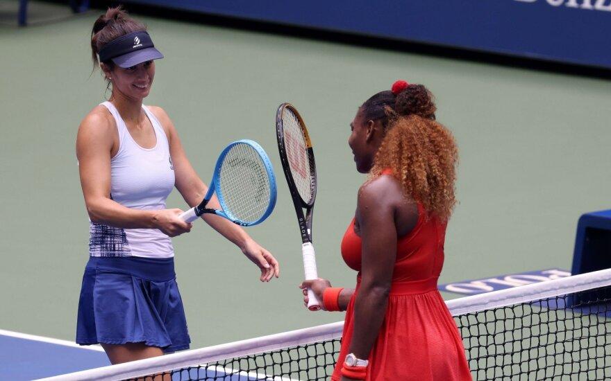 Serena Williams (dešinėje), Tsvetana Pironkova
