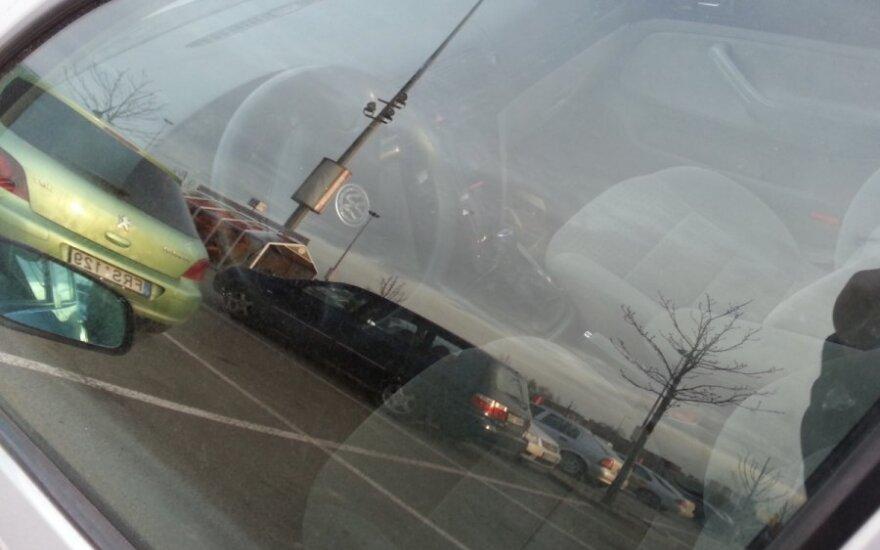Vairuotojo nufotografuotas langas