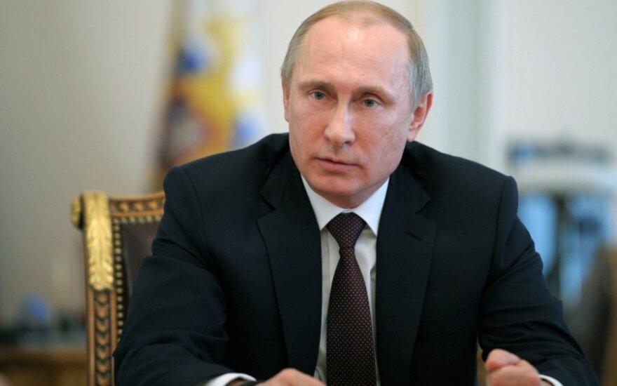 V. Putino ir Rusijos saugumo tarybos narių posėdis