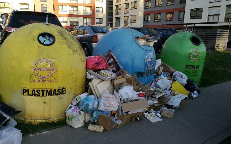 Už netinkamą atliekų tvarkymą vežėjams grės 60 EUR bauda
