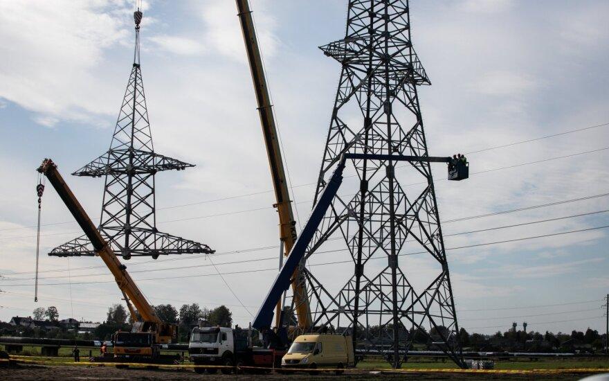 Elektros perdavimo kaina mažėja 11,4 proc.