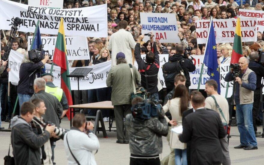 Vilniaus savivaldybė atmetė parlamentarų prašymą nukelti lenkų mitingą
