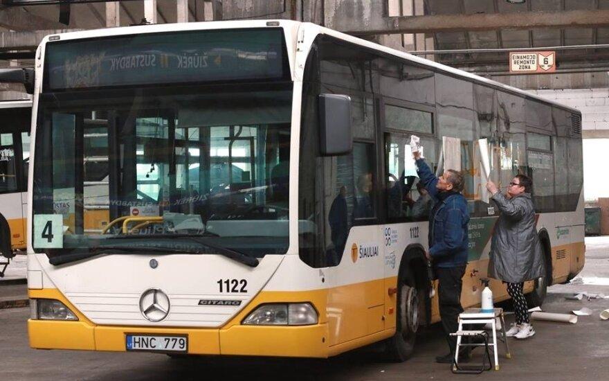 Šiauliečius po miestą vežios unikaliai papuošti autobusai. Emilio Jucio nuotr.