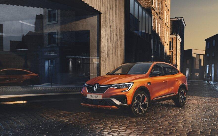 """""""Renault"""" pristatė naują modelį – hibridinį visureigį """"Arkana"""""""