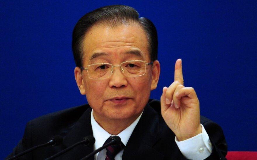 Kinijos premjeras Wenas Jiabao