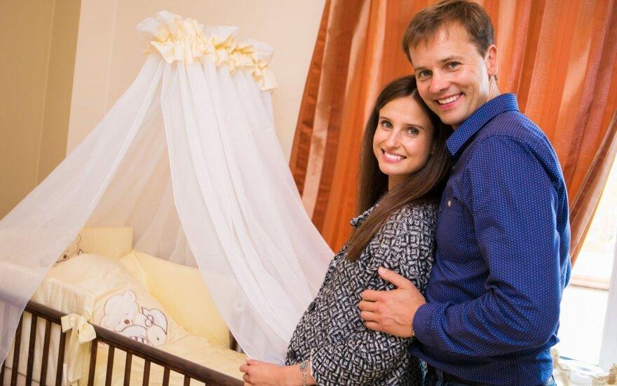 Nerijaus Juškos ir Agnės Jurgilaitės kūdikio sutiktuvės