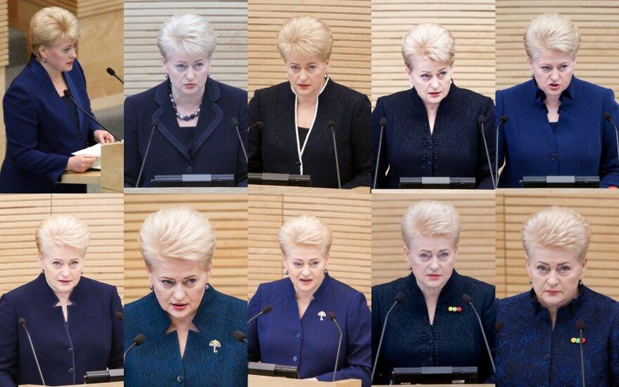 Prezidentės Dalios Grybauskaitės metiniai pranešimai