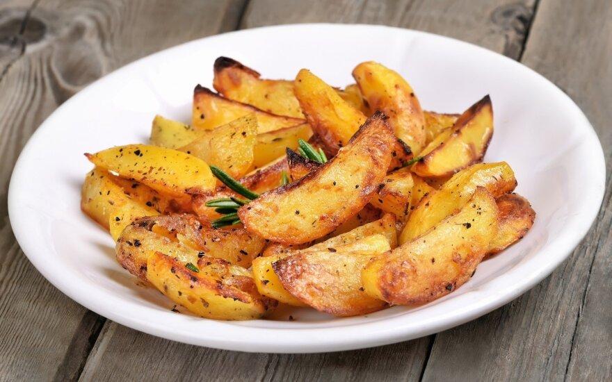 Traškios bulvių skiltelės