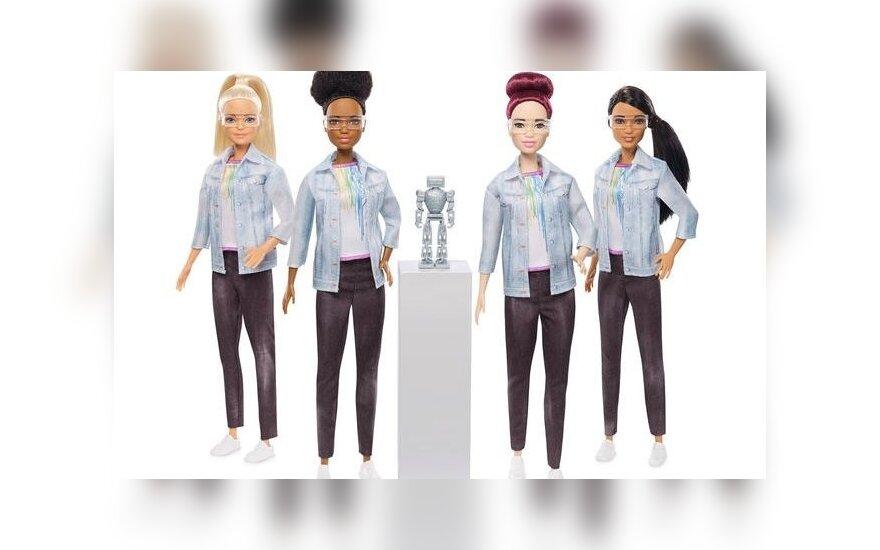 Robotais susidomėjusi lėlė Barbė siekia įkvėpti mergaites