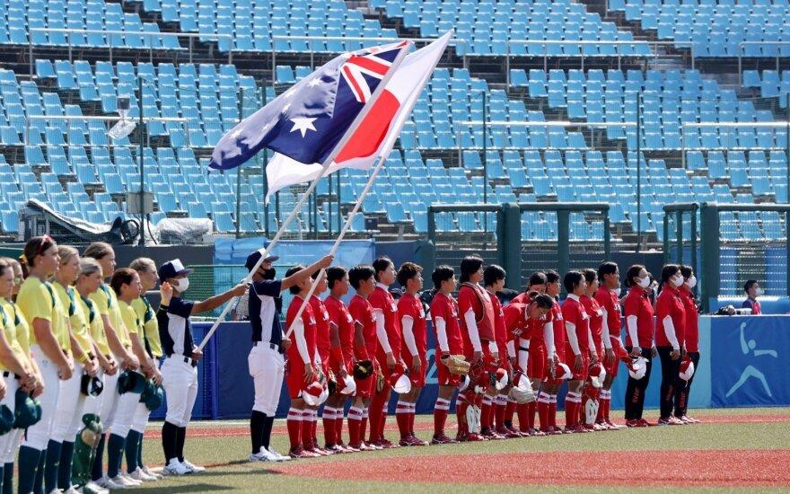 Softbolas Tokijo olimpinėse žaidynėse: Australija prieš Japoniją