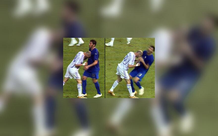 Paskutinis smūgis Zinedine'o Zidane'o karjeroje buvo ne į vartus, o į italo Marco Materazzi krūtinę