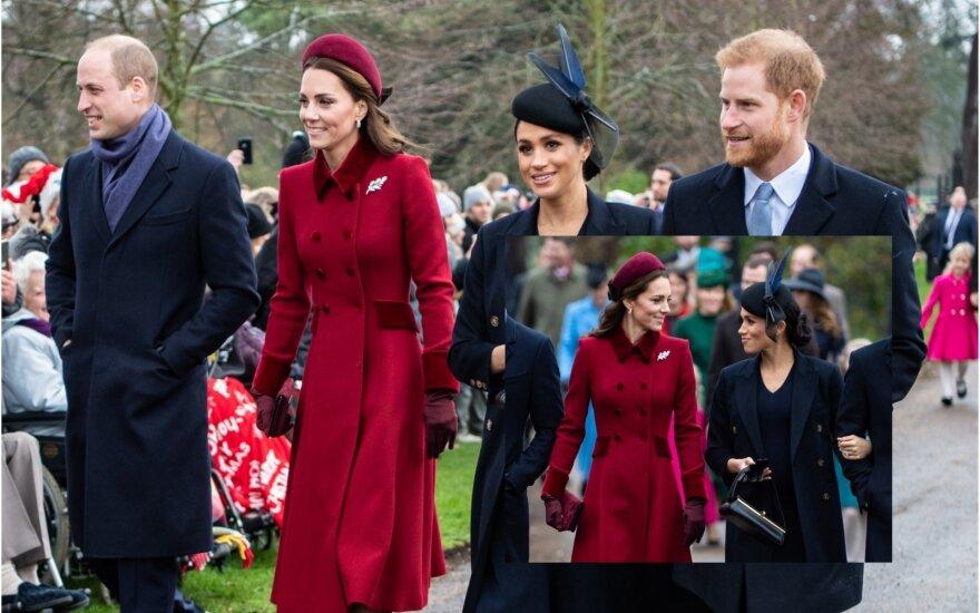Princai Williamas ir Harry su žmonomis Kate Middleton ir Meghan Markle