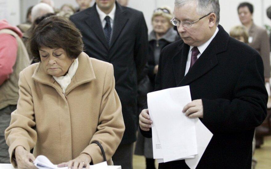 Jadwiga Kaczynska ir Jaroslawas Kaczynskis