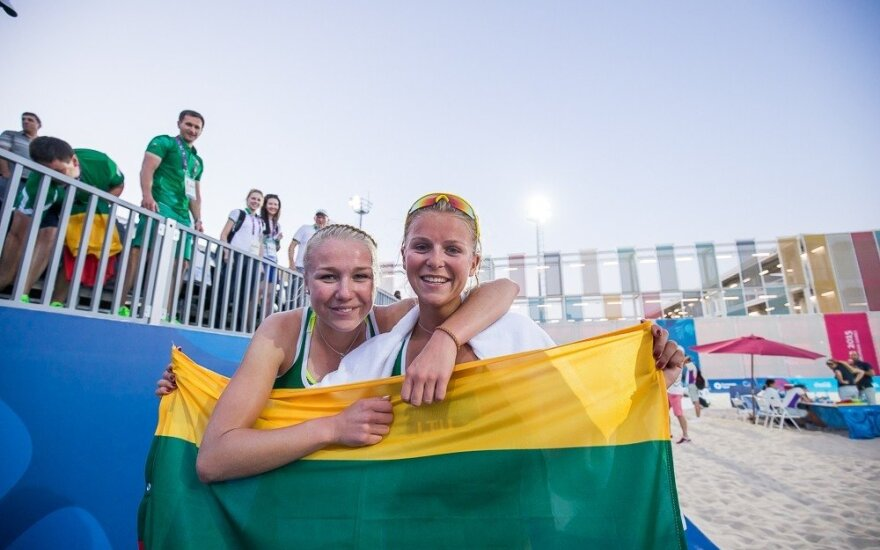 Dramą laimėjusios M. Povilaitytė ir I. Dumbauskaitė – Europos žaidynių Baku ketvirtfinalyje