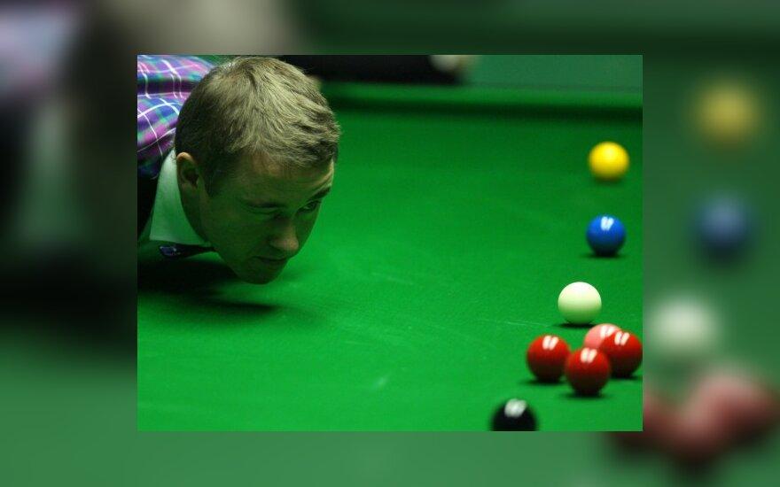 """Pasirodymą angliškojo biliardo """"Welsh Open"""" turnyre baigė S.Hendry ir D.Junhui"""