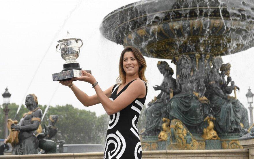 Ispanė G. Muguruza pakilo į antrą WTA reitingo vietą