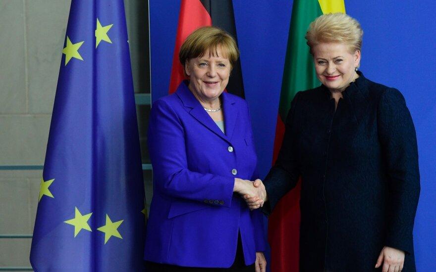 Angela Merkel and Dalia Grybauskaitė