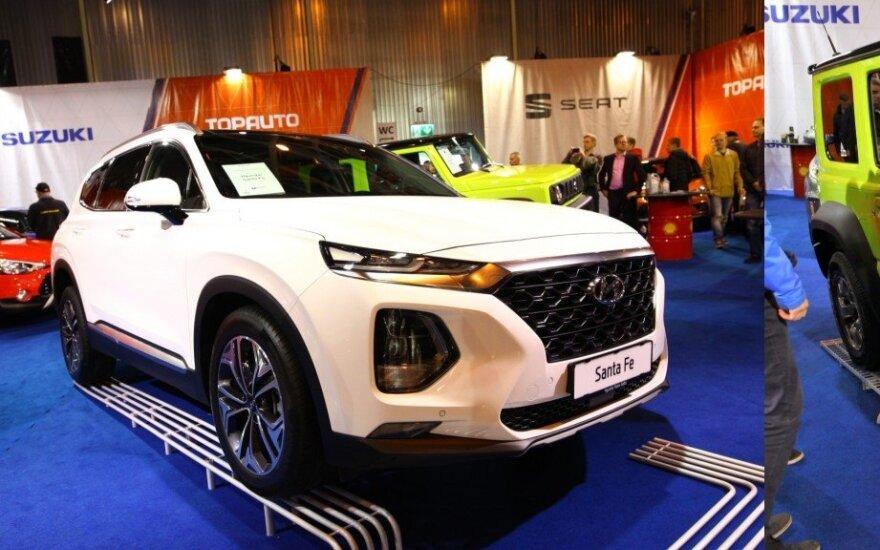 """Hyundai Santa Fe"" ir ""Suzuki Jimny"""