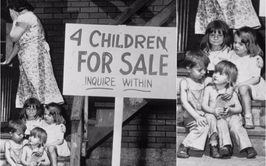 """""""Parduodu keturis vaikus"""": kaip susiklostė vaikų iš 1948 m. nuotraukos likimai?"""