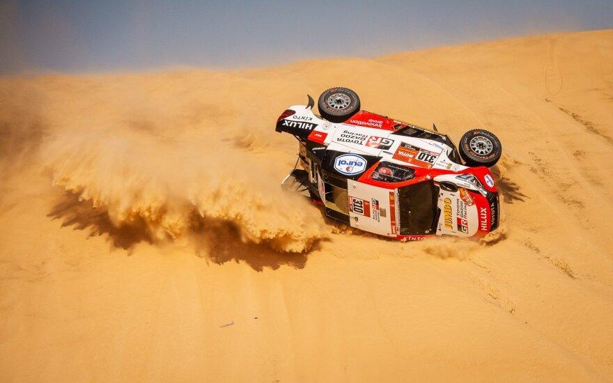 Fernando Alonso avarija Dakaro ralyje. Inbank team Pitlane/Rytis Šeškaitis nuotr.