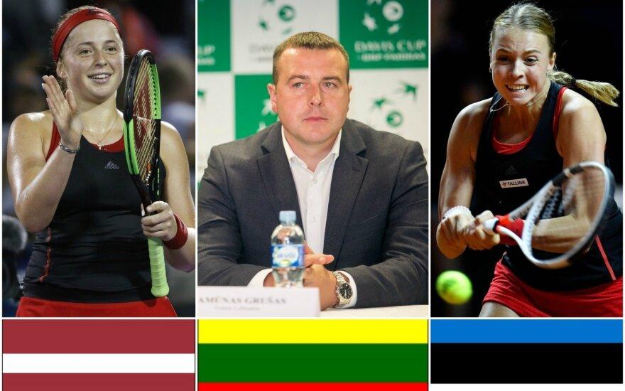 Jelena Ostapenko, Ramūnas Grušas, Anett Kontaveit
