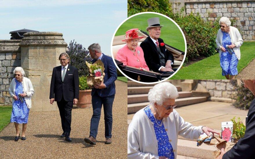 Karalienė Elžbieta II pagerbė velionio vyro atminimą