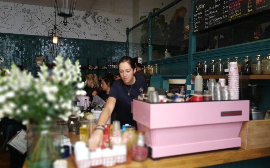 Farm girl rožinis kavos aparatas