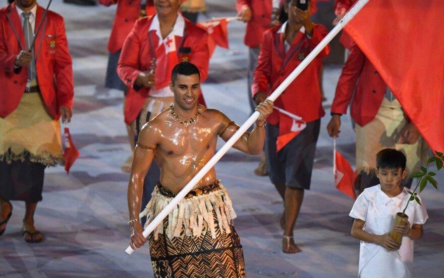 Nuogumu išgarsėjęs Tongos olimpietis dalyvaus ir Pjongčange – bus slidininkas