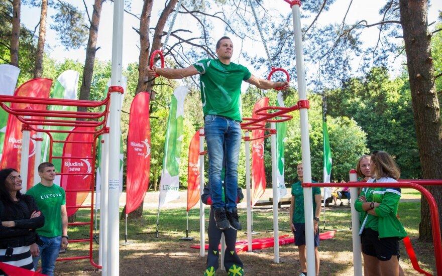 Olimpiečių pristatyta dovana Lietuvos miestams skatins gyventojų aktyvumą